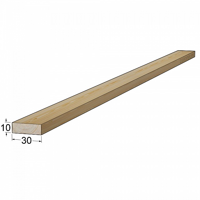 TIMBER SQUARE BEAM 10x30 mm / PINE